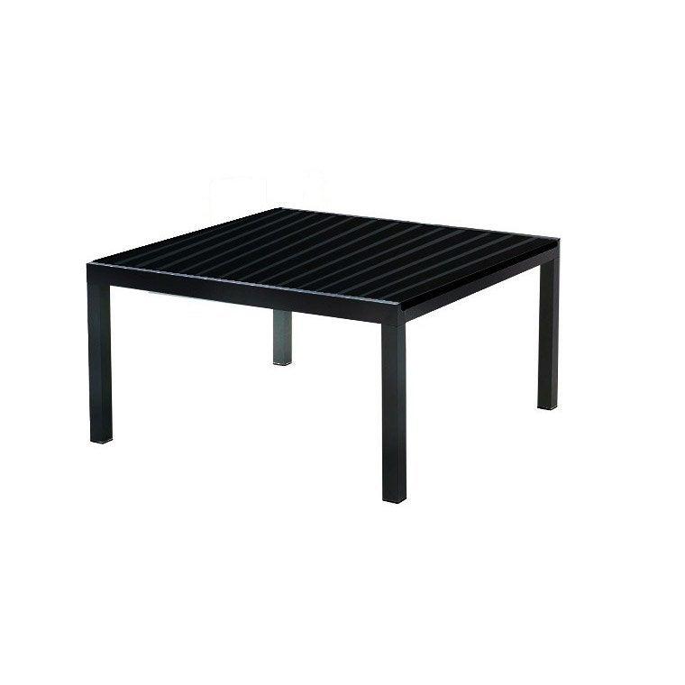 Table de jardin Miami carrée noir 8 personnes | Leroy Merlin