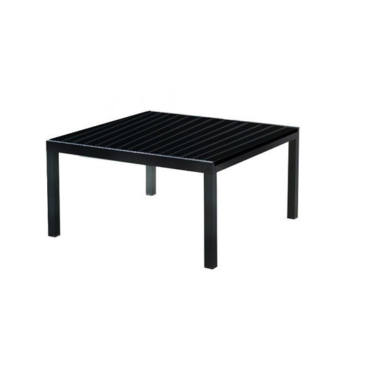 Table de jardin miami carr e noir 8 personnes leroy merlin for Table 30 personnes