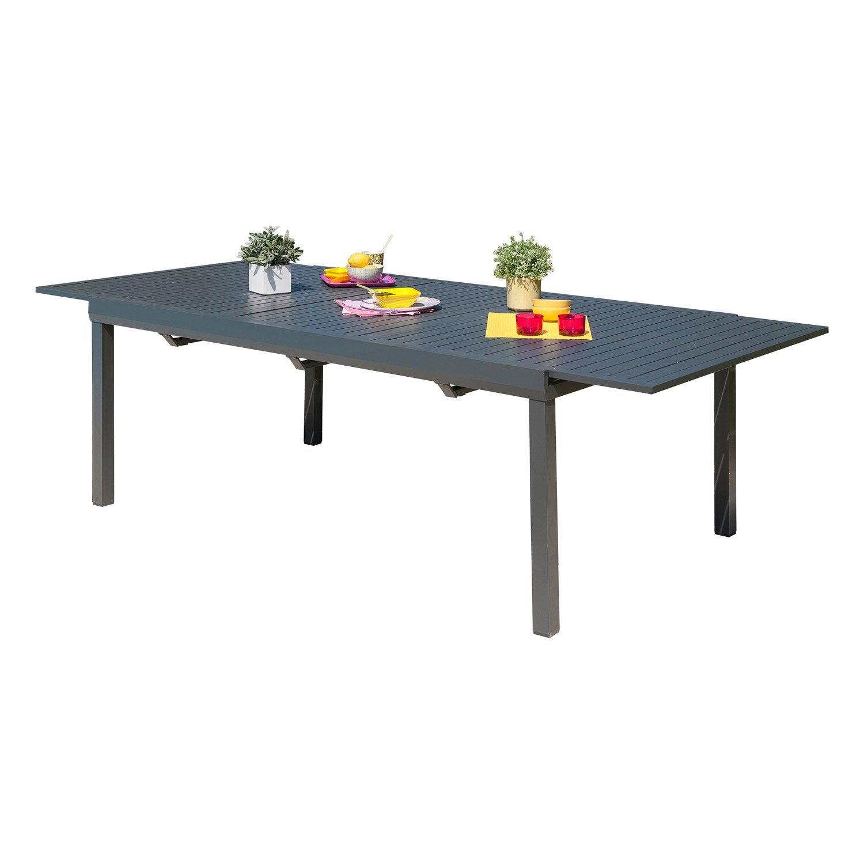 Table De Jardin Miami Rectangulaire Gris Anthracite 8 Personnes  # Je Fabrique Ma Table De Jardin