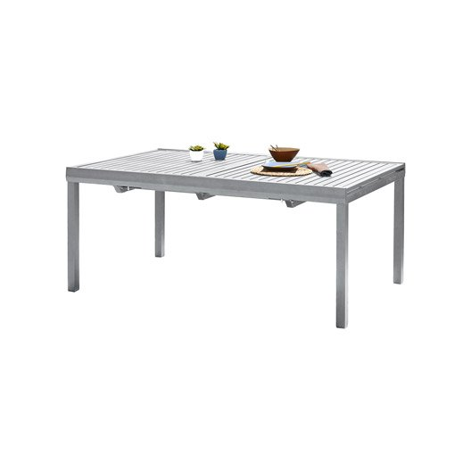table de jardin orlando rectangulaire gris 8 personnes leroy merlin. Black Bedroom Furniture Sets. Home Design Ideas