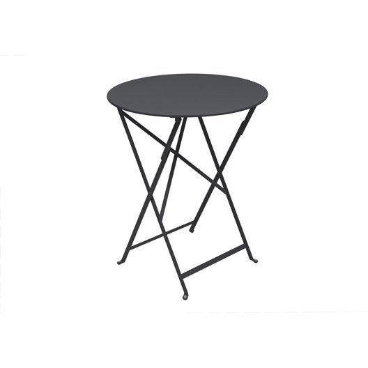 Table de jardin fermob bistro ronde carbone 2 personnes - Table de jardin 2 personnes ...