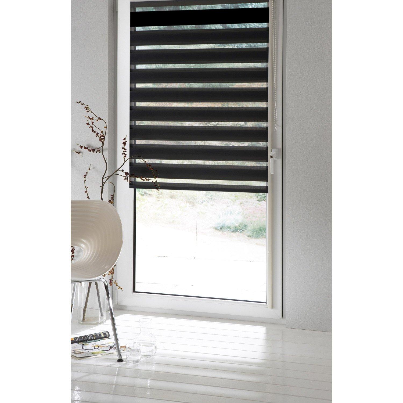 Store enrouleur jour / nuit INSPIRE, noir noir n°0, 81 x 190 cm ...