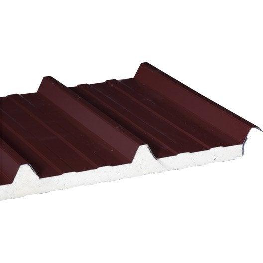 plaque nervur acier acier galvanis rouge ep 40 mm l 1 x l 5 1 m leroy merlin. Black Bedroom Furniture Sets. Home Design Ideas