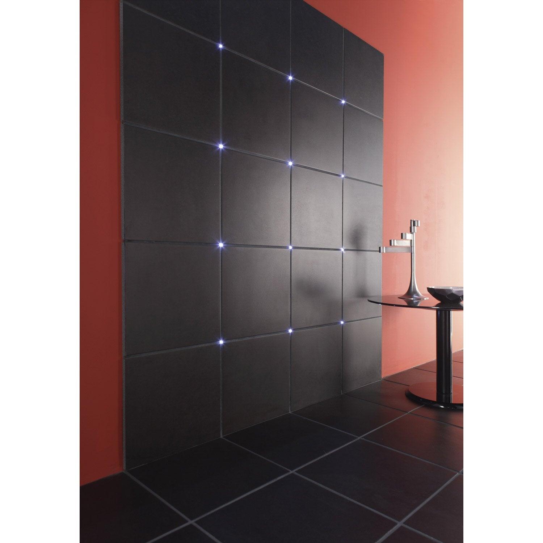Kit éclairage de carrelage Crosslight, LED 4 x 0.275 W, LED intégrée blanc chaud