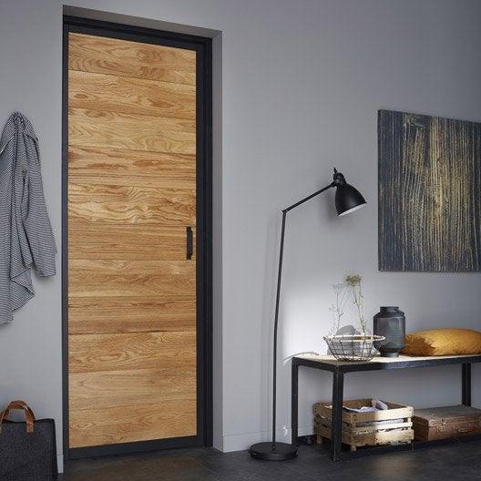 bloc porte plaqu ch ne indus artens x cm poussant gauche leroy merlin. Black Bedroom Furniture Sets. Home Design Ideas