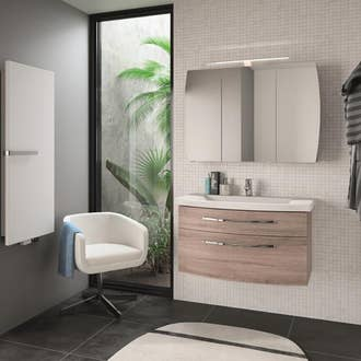 Meuble salle de bain et vasque leroy merlin for Eclairage salle de bain leroy merlin