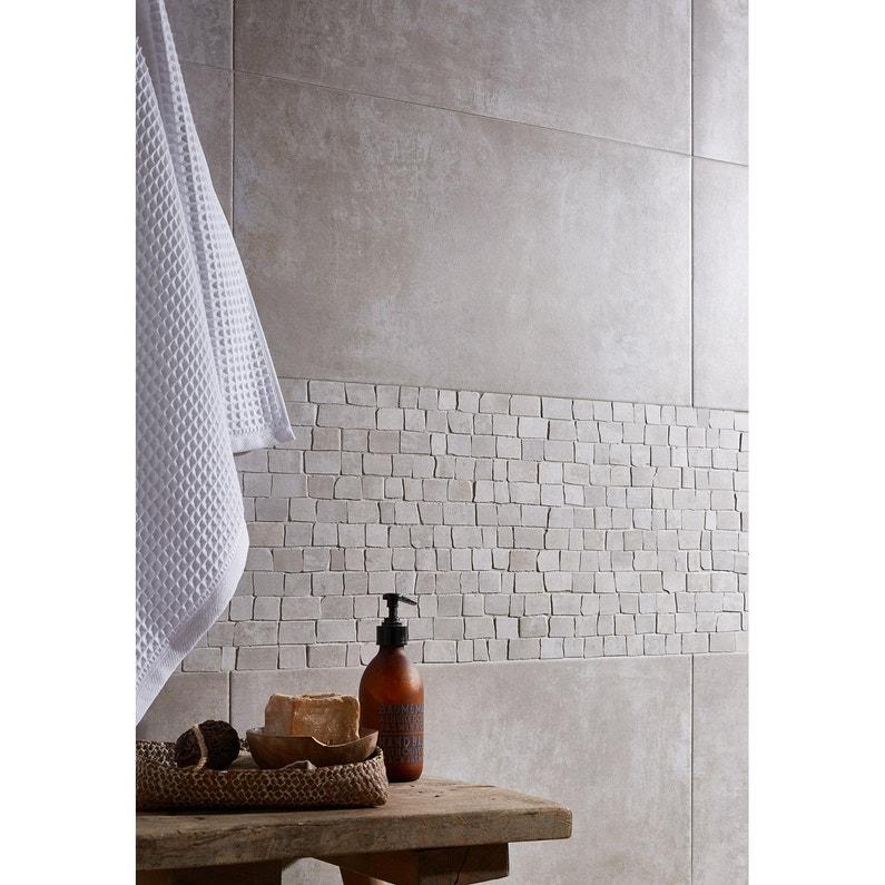 Carrelage Mur Et Sol Blanc Mat L308 X L615 Cm Blend