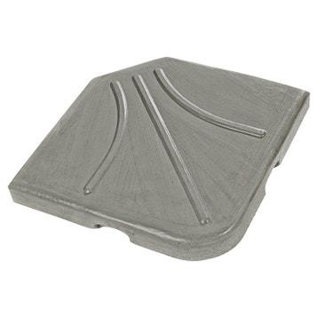 Meuble Salle De Bain Blanc Mat ~ Pied De Parasol Dalle Contrepoids Au Meilleur Prix Leroy Merlin