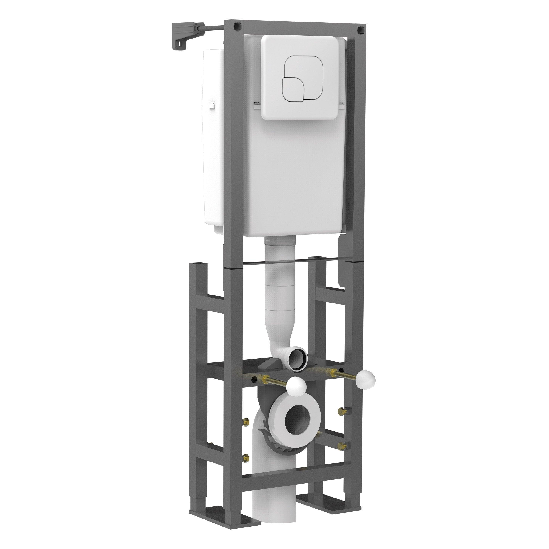 Wc Suspendu 4 Pieds bâti support pour wc suspendu en acier gris