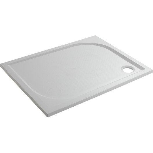 Receveur de douche rectangulaire x cm r sine blanc klara leroy - Receveur douche 100x80 ...