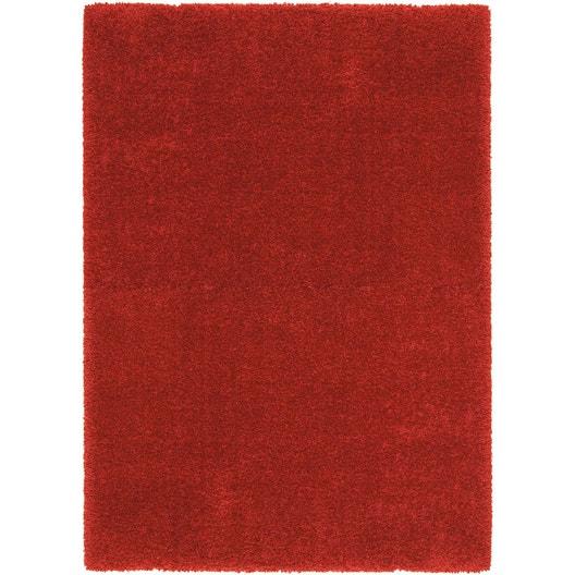tapis rouge shaggy royal x cm leroy merlin. Black Bedroom Furniture Sets. Home Design Ideas