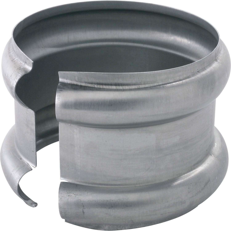 fc4c739a710d Bague double extensible zinc gris SCOVER PLUS Diam.100 mm   Leroy Merlin