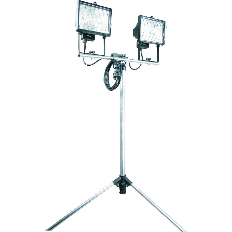 projecteur portable ext rieur r7s 118 mm 2 x 400 w gris leroy merlin. Black Bedroom Furniture Sets. Home Design Ideas