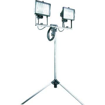 Projecteur portable extérieur R7S, 118 mm 2 x 400 W, gris