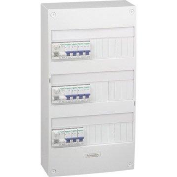 Tableau électrique équipé et précâblé SCHNEIDER ELECTRIC 3 rangées 39 modules