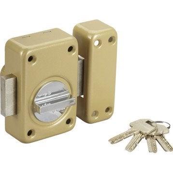 Verrou bouton / cylindre, 45 mm, VACHETTE v13
