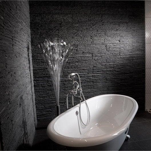 Plaquette de parement pierre naturelle noir victoria for Plaquette parement pierre naturelle interieur