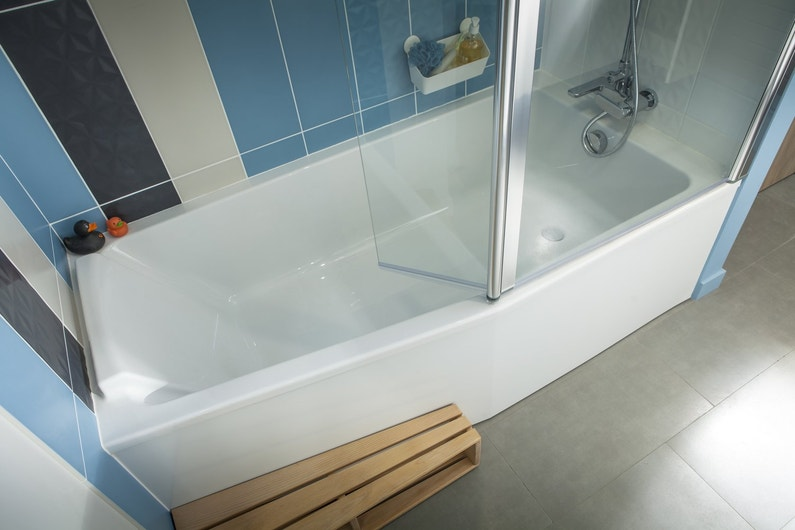salle de bains baignoire blanche leroy merlin. Black Bedroom Furniture Sets. Home Design Ideas