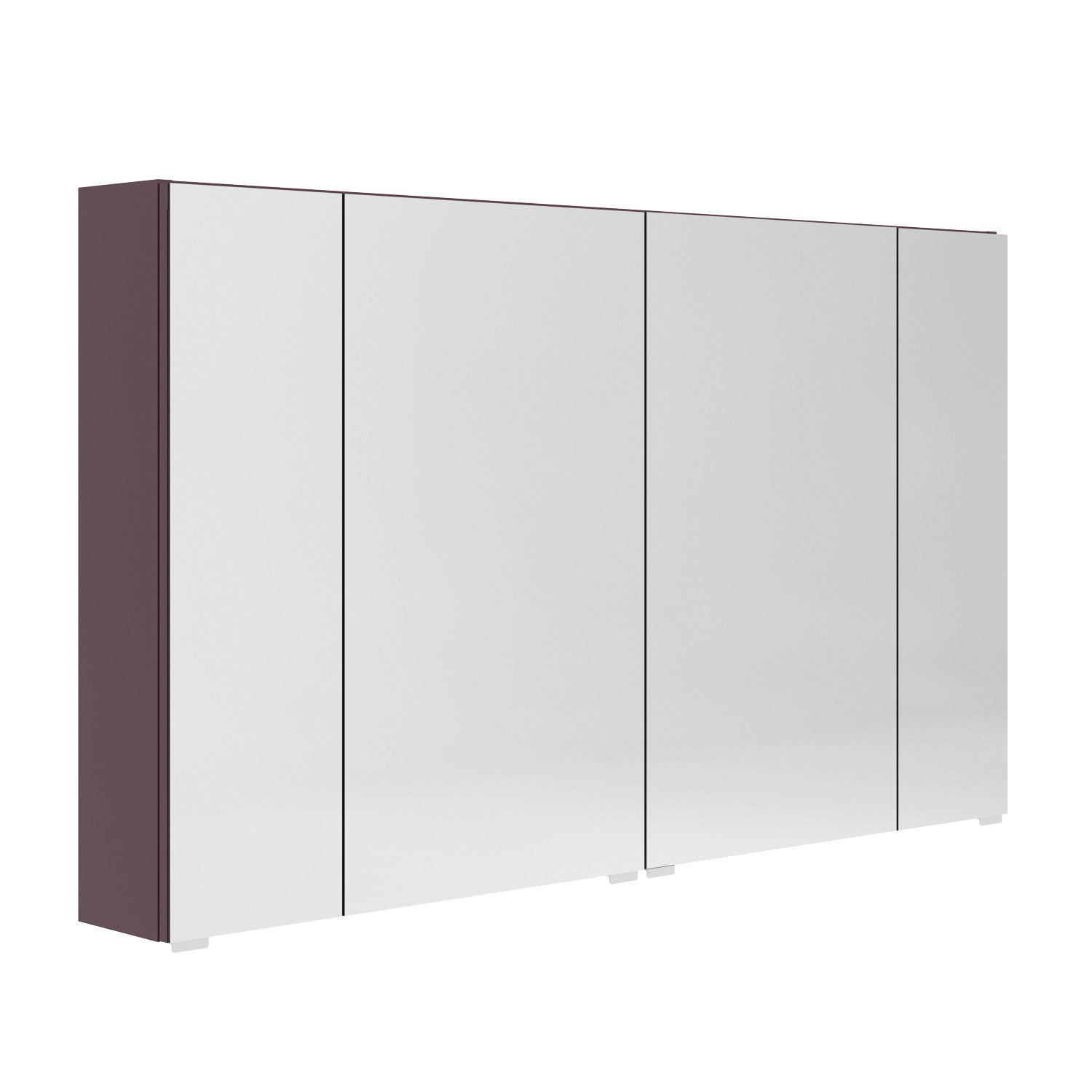 armoire de toilette l 120 cm aubergine opale leroy merlin. Black Bedroom Furniture Sets. Home Design Ideas
