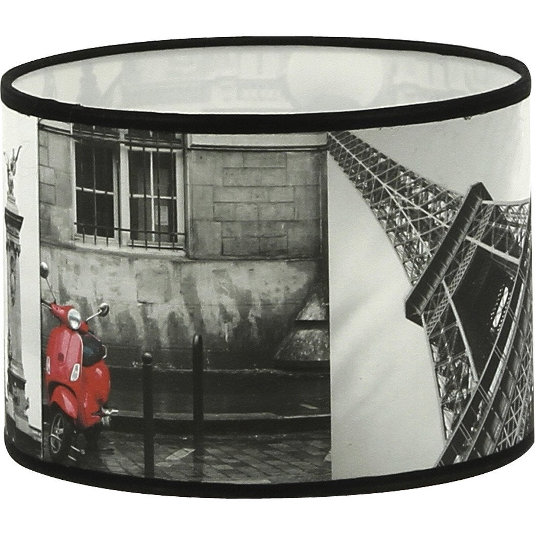 abat jour trocadero 20 cm tissu multicolore leroy merlin. Black Bedroom Furniture Sets. Home Design Ideas
