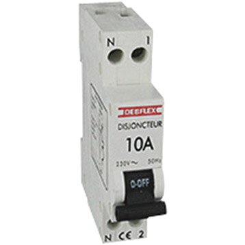 Disjoncteur phase + neutre DEBFLEX 10 A