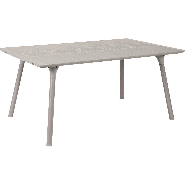 Table de jardin NATERIAL Antibes rectangulaire gris 46 ...