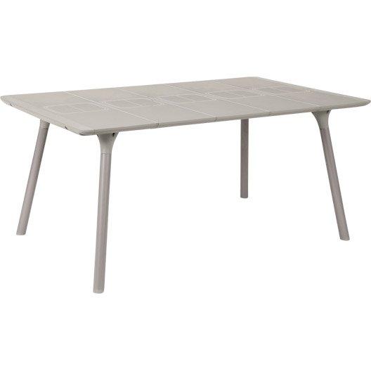 table de jardin naterial playmood rectangulaire lin 6 personnes leroy merlin. Black Bedroom Furniture Sets. Home Design Ideas