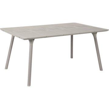 Table de jardin NATERIAL Playmood rectangulaire lin 6 personnes
