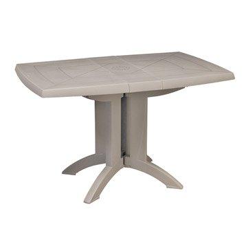 Table de jardin GROSFILLEX Véga rectangulaire lin 4 personnes