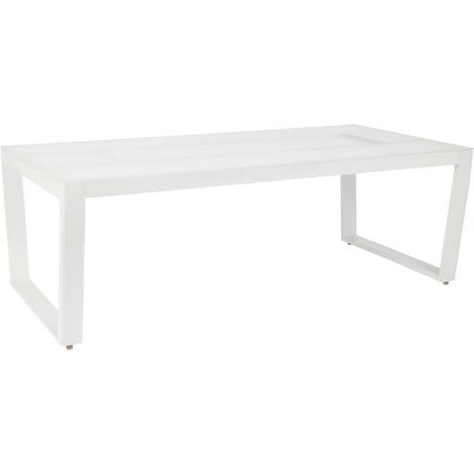 table de jardin venus rectangulaire blanc 6 personnes leroy merlin. Black Bedroom Furniture Sets. Home Design Ideas