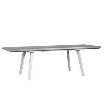 Table de jardin Harmony rectangulaire grise 10 personnes