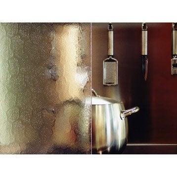 Verre décoratif Cathédrale martelé 439 transparent L.100 x l.100 cm 4 mm