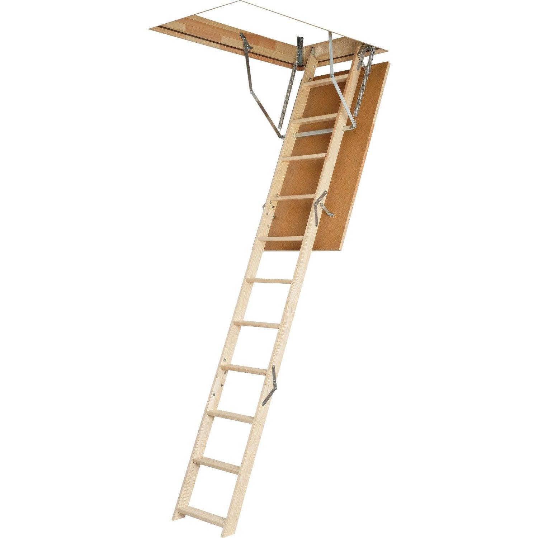 Escalier escamotable droit structure bois marche bois for Dimension escalier bois