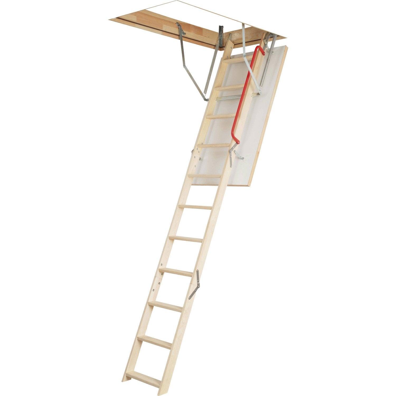 escalier escamotable droit structure bois marche bois. Black Bedroom Furniture Sets. Home Design Ideas