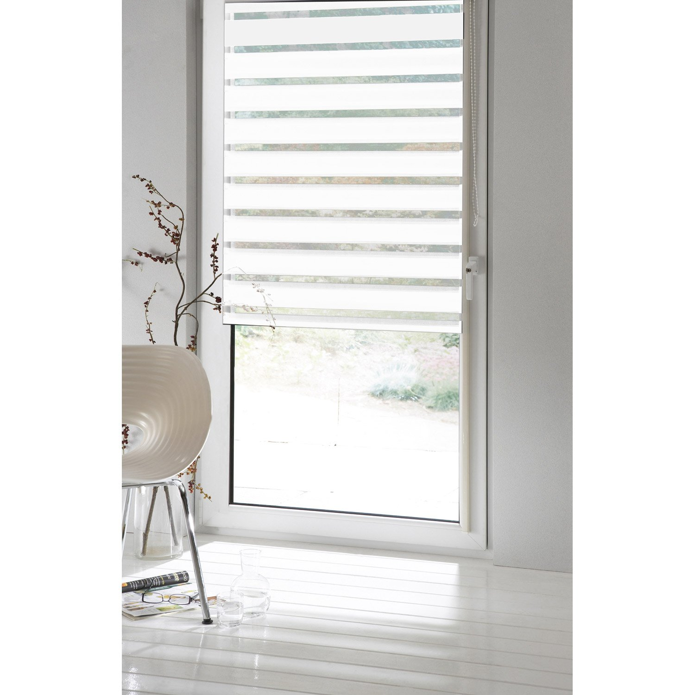 Store enrouleur jour / nuit INSPIRE, blanc blanc n°0, 124 x 190 cm ...