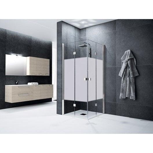 porte de douche pivot pliante angle carr cm x cm s rigraphi neo leroy merlin. Black Bedroom Furniture Sets. Home Design Ideas