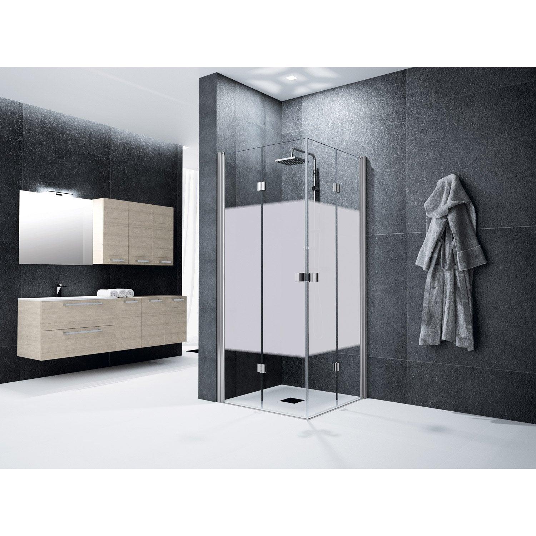 porte de douche angle carr cm x cm s rigraphi neo leroy merlin. Black Bedroom Furniture Sets. Home Design Ideas