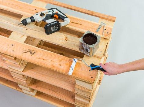 DIY : Fabriquer un meuble vasque palettes   Leroy Merlin