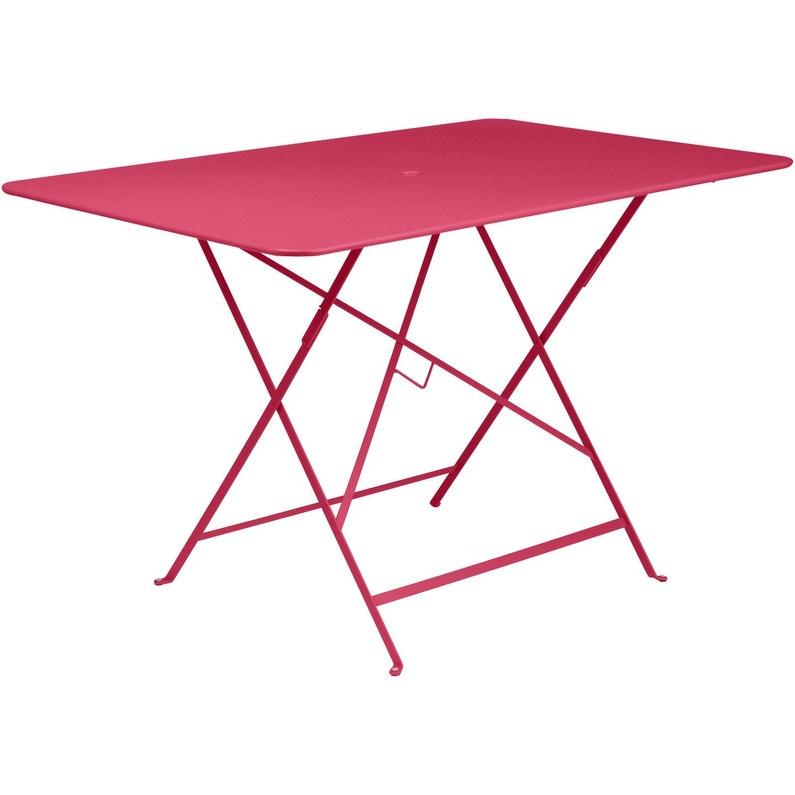 Table de jardin de repas FERMOB Bistro rectangulaire rose praline 6  personnes