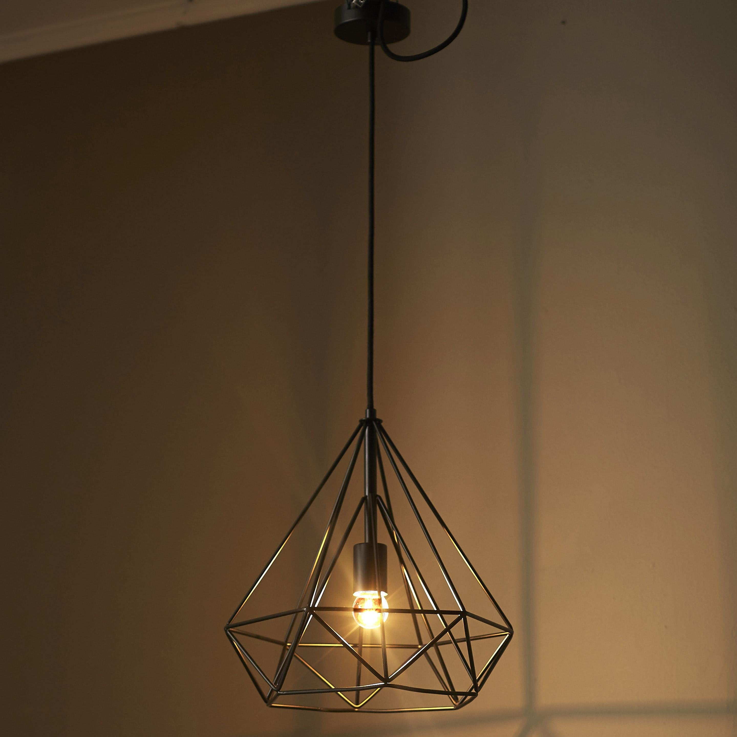 Suspension, industriel métal INSPIRE Byron 1 lumière(s) D.37 cm