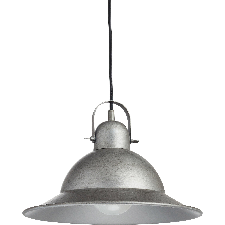 Suspension, E27 industriel Stephenson aluminium métal brossé 1 x 60 W INSPIRE