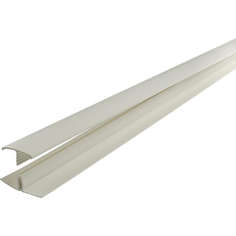 Moderne Profil de départ et finition PVC blanc, 2 cm x 1.1 cm, l. 2.6 m OI-78