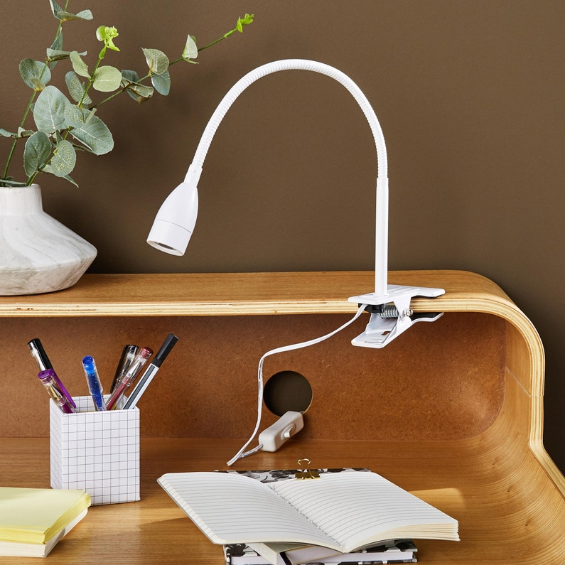 Lampe De Bureau à Pince Essentiel Plastique Blanc Inspire Gao