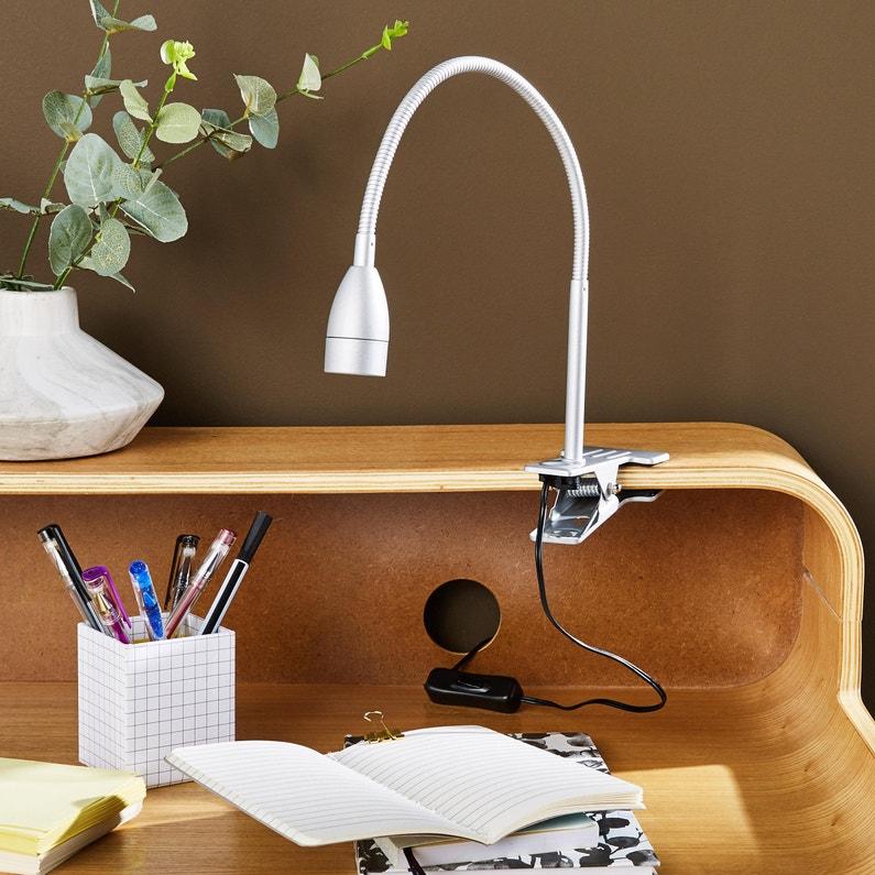 Lampe De Bureau à Pince Essentiel Plastique Argent Inspire Gao