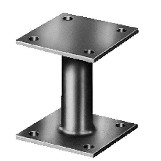 support de poteau galvanis 150x150x100x100x100 mm. Black Bedroom Furniture Sets. Home Design Ideas