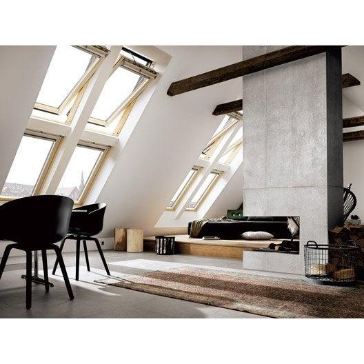 Fen tre de toit velux ggl uk04 tout confort ouverture par for Vitrage velux tout confort