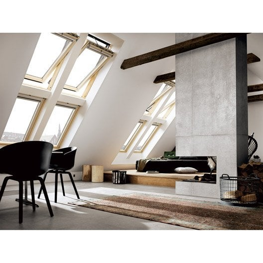 velux ggl uk04 tout confort integra par rotation 134 x 98 cm leroy merlin. Black Bedroom Furniture Sets. Home Design Ideas