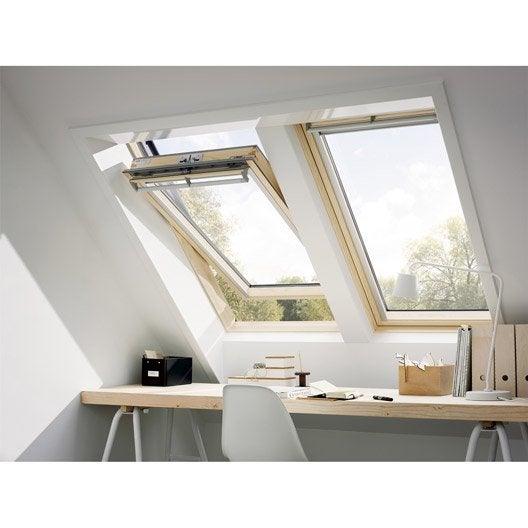 velux ggl mk08 confort ouverture par rotation 78x140 cm leroy merlin. Black Bedroom Furniture Sets. Home Design Ideas
