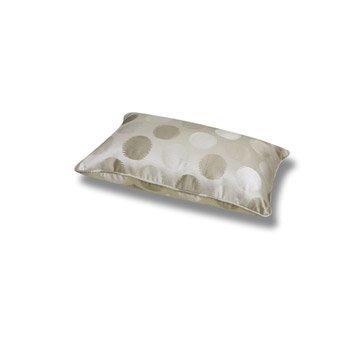 Coussin Jacquard, beige/écru, 50 x 30 cm