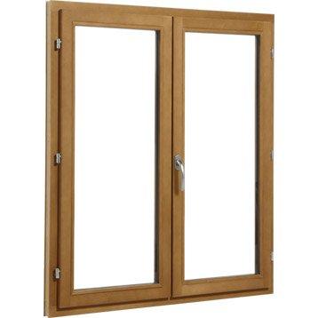 Fenêtre bois 2 vantaux ouvrant à la française H.115 x l.100 cm